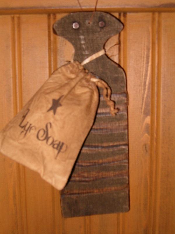 makedo rub board with lye soap sack