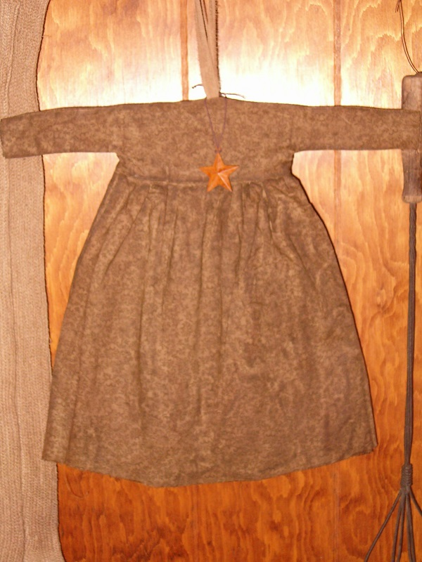 small brown floral prairie dress