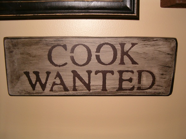 Cook Wanted sign