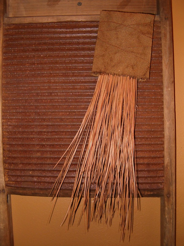 large pine needle makedo whisk broom