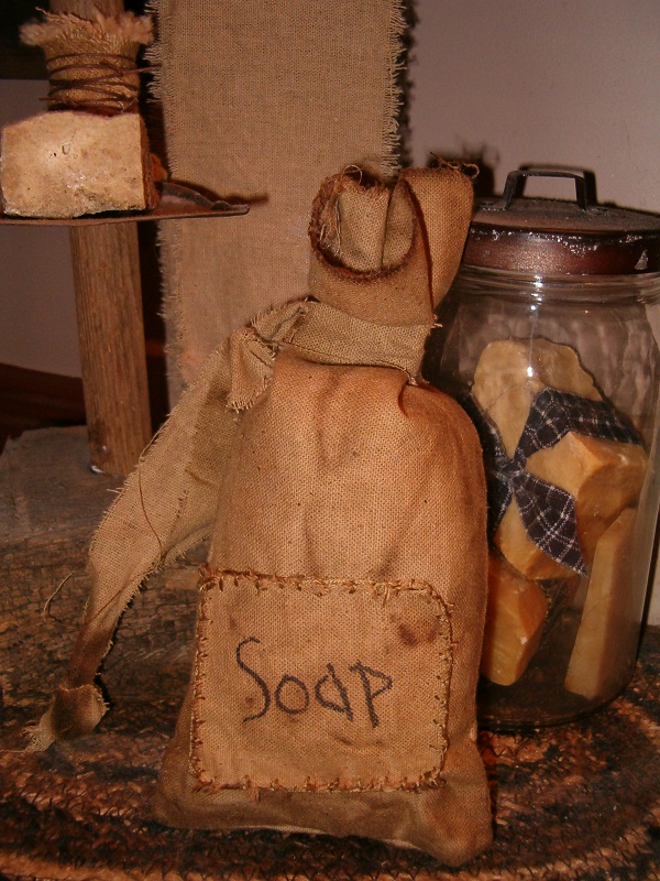 patched soap ditty bag