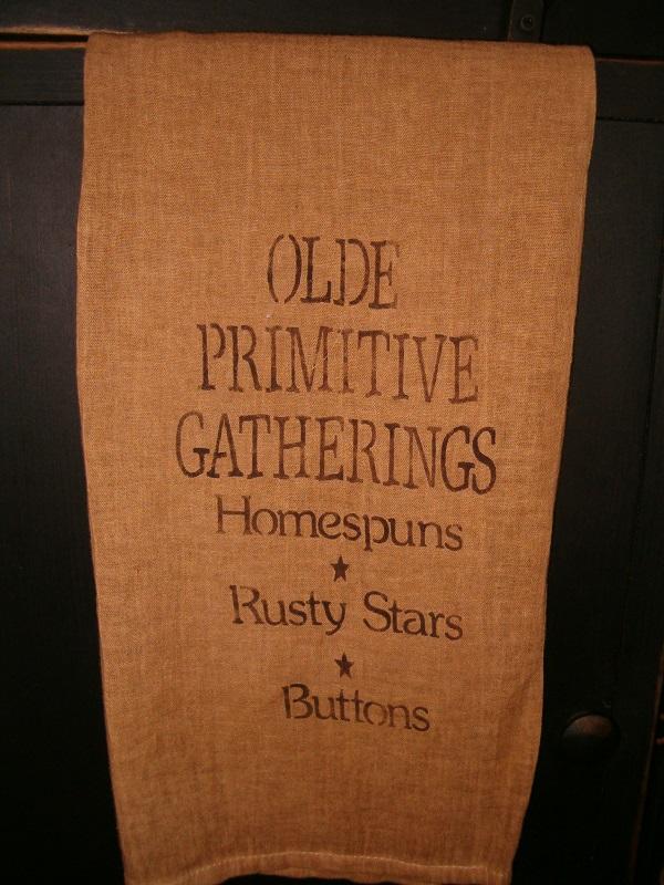 olde primitive gatherings towel