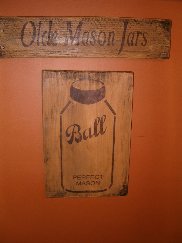 BALL mason jar sign