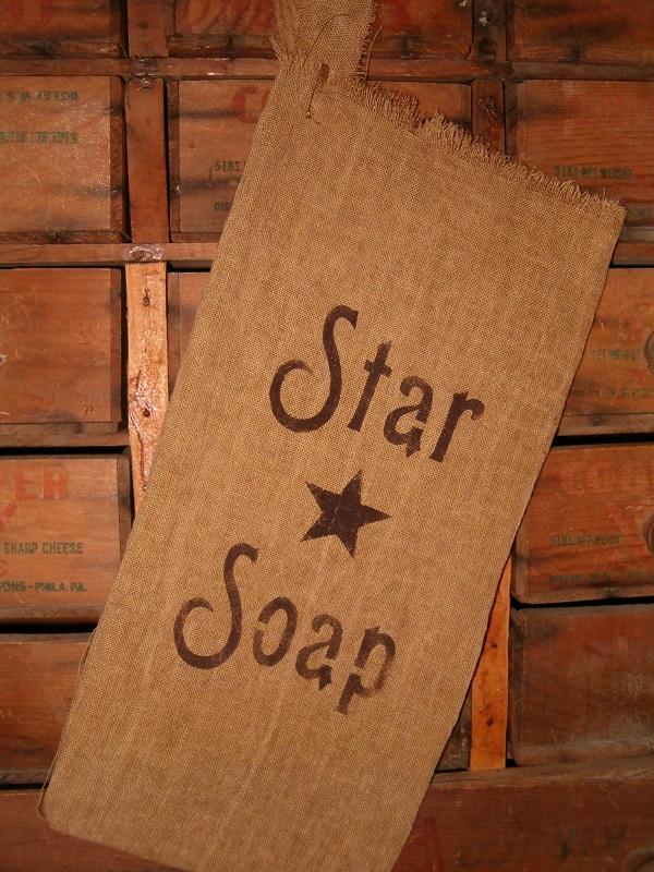 small Star Soap flour sack