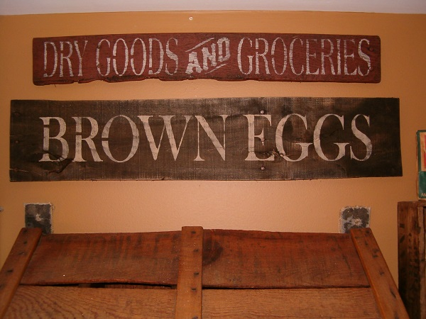 Pantry signs