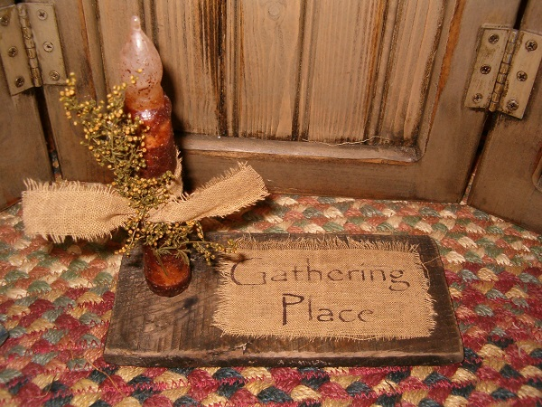 gathering place candle board