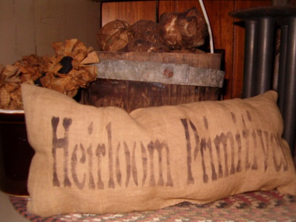 heirloom primitives pillow