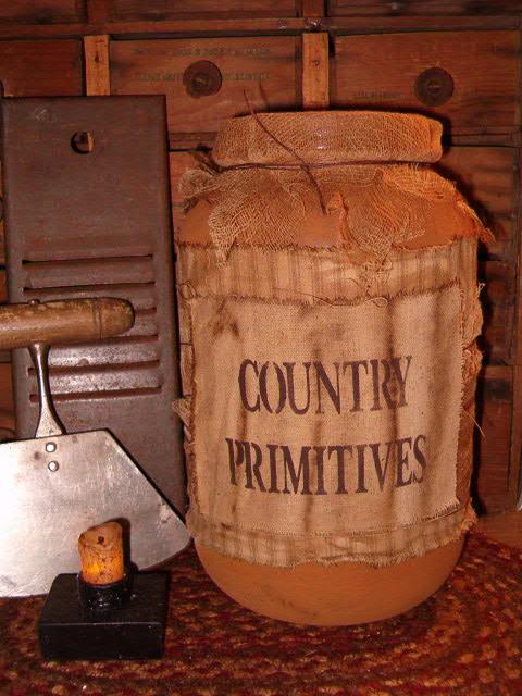 Country Primitives jumbo pantry jar
