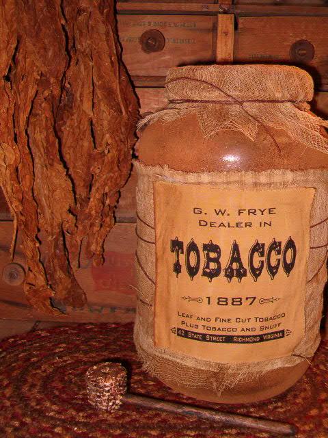 Tobacco jumbo pantry jar