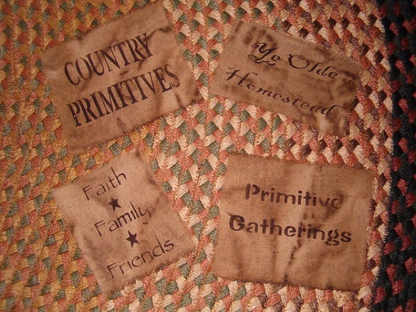 stenciled osnaberg patches