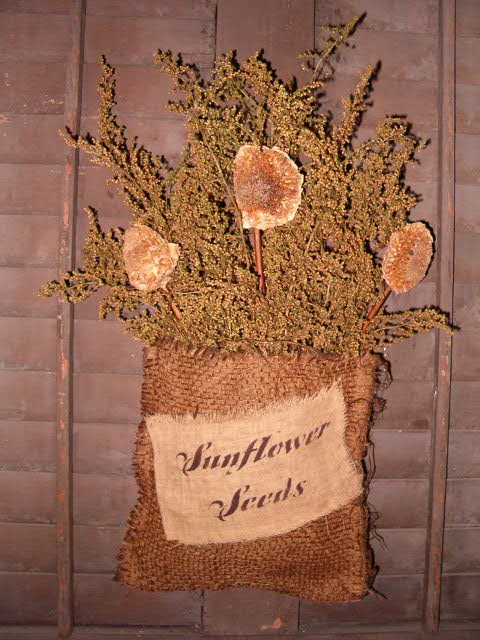 sunflower seeds burlap sack