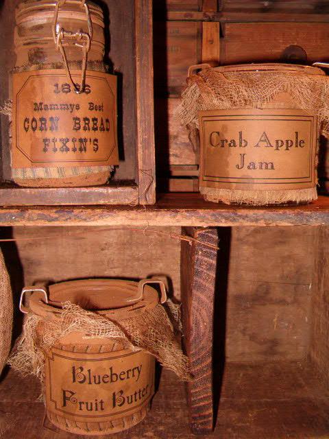 small prim pantry jars