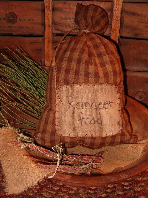reindeer food ditty bag
