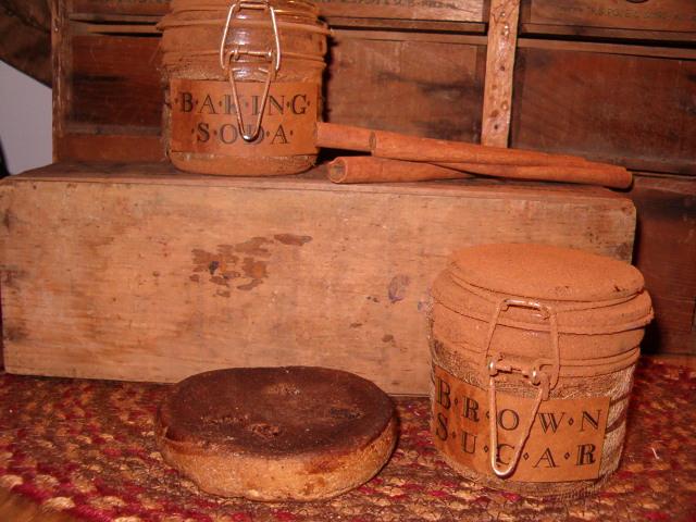 grungy baking jars