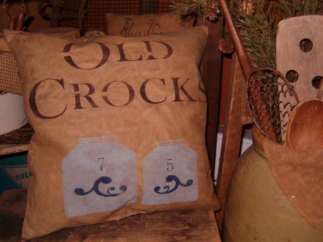olde crocks pillow