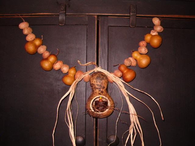 bottleneck gourd garland