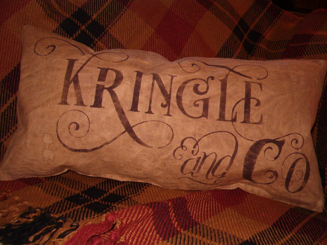 Kringle and Co pillow