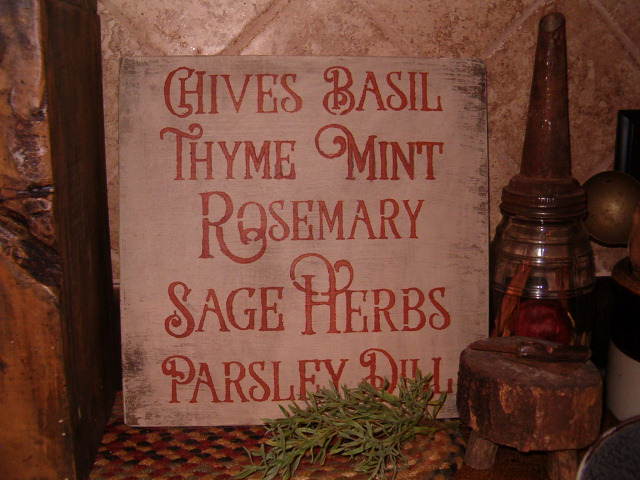 square herbs sign