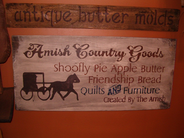 Amish Country Goods sign