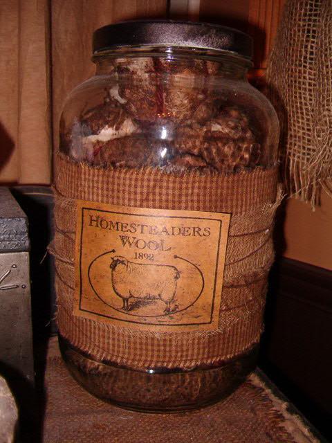 Homesteaders Wool jumbo jar