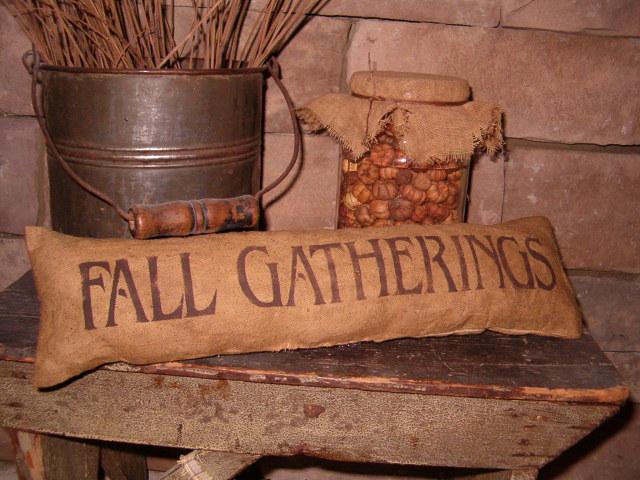 small Fall gatherings pillow