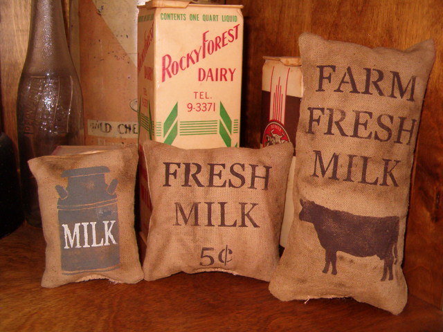 fresh milk pillow tuck set
