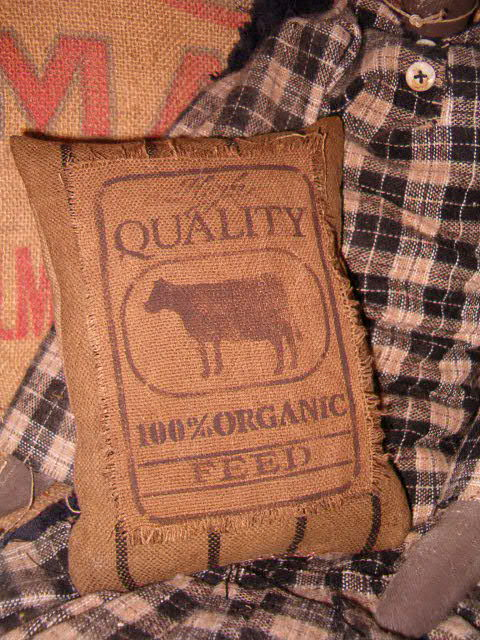 High quality feed heirloom pillow with cow