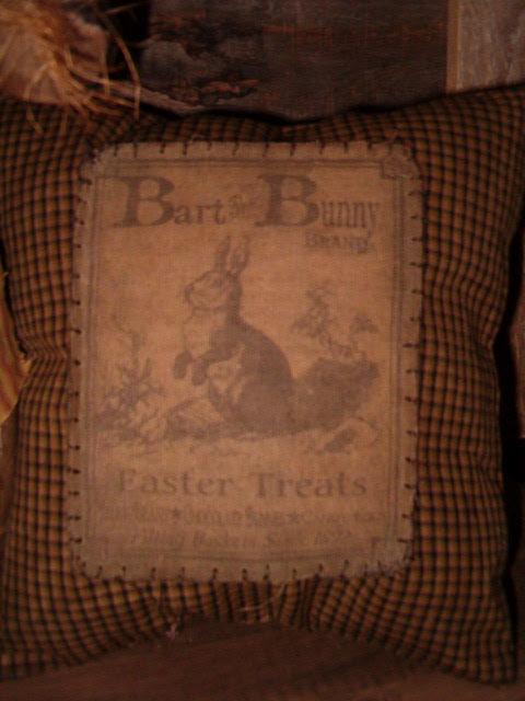 Bart the Bunny Easter Treats pillow