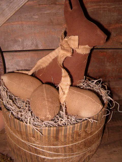 Chocolate bunny in fabric box