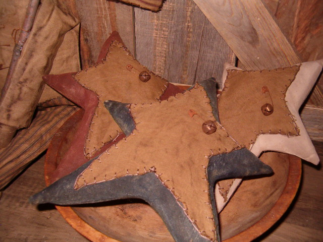 Set of three Americana stars