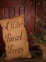 olde tinsel trees pillow or towel