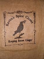 Raven's Spice closet floursack items