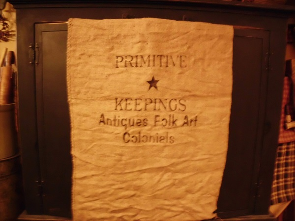 primitive keeping burlap sack