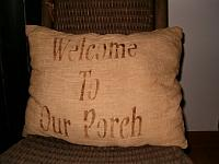 Welcome to our porch pillows