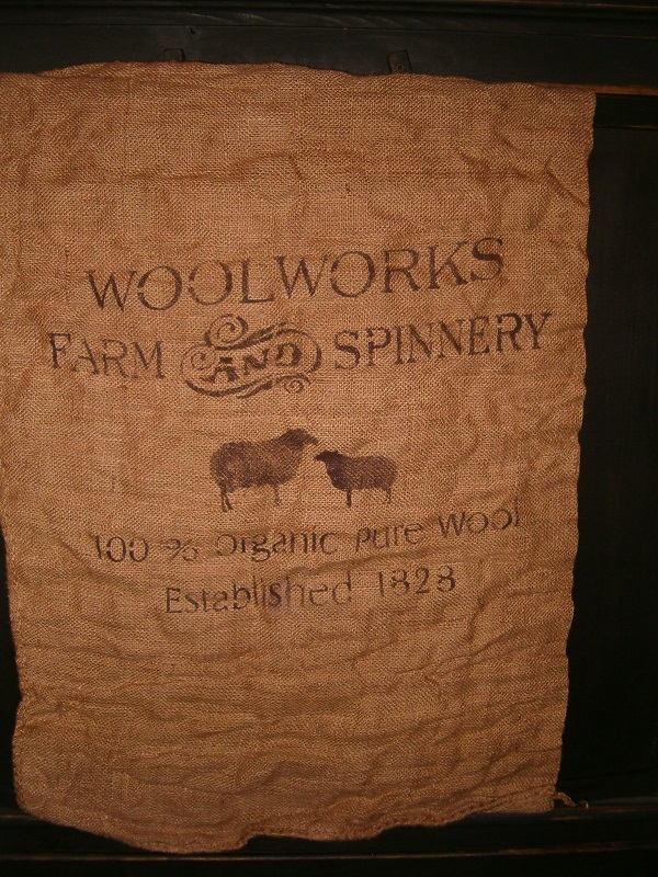large woolworks burlap sack