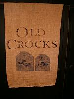 Old Crocks flour sack towel