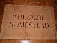 the olde homestead placemat
