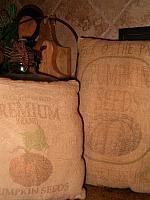 prim pumpkin pillows