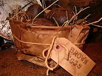 brown eggs sack