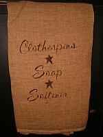 clothespins towel