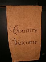 country welcome towel