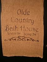 olde country bath house towel