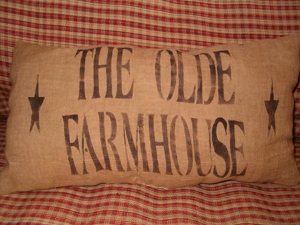 rectangular the old farmhouse pillow