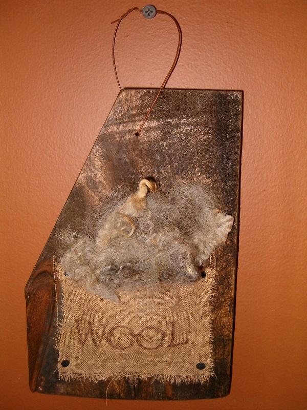 wool barnwood hanger