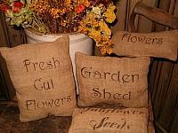 set of 4 garden pillows