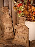 patched barley or rye bags