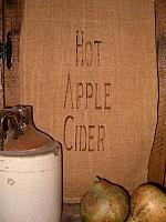 hot apple cider towel