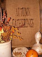 Autumn gatherings towel