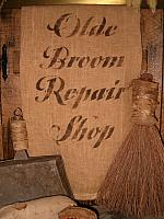 olde broom repair shoppe towel