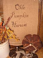 olde pumpkin harvest towel